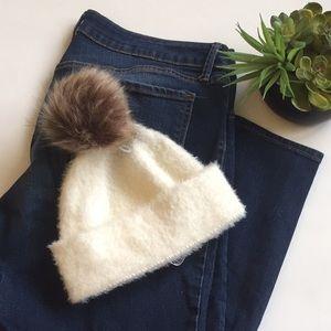 Urban Outfitters Fuzzy Pom Pom Beanie Winter Hat